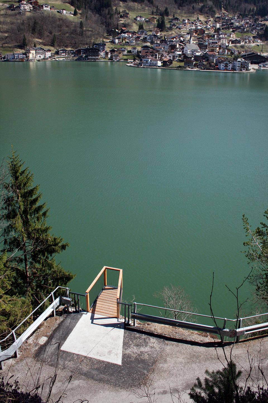 Il punto panoramico sul lago